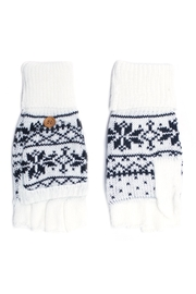 C.C. Snowflake Convertible Gloves - Front cropped