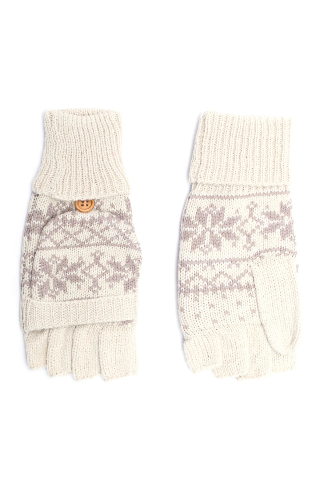 C.C. Snowflake Convertible Gloves - Front Cropped Image