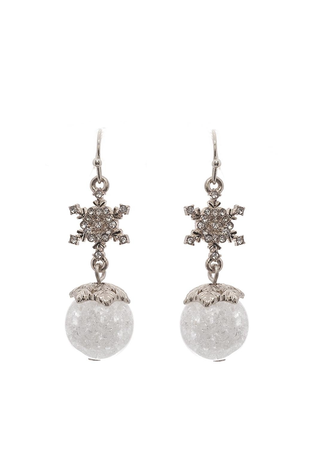 Wild Lilies Jewelry  Snowflake Drop Earrings - Front Cropped Image