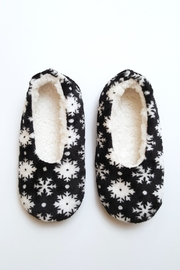 Simply Chic Snowflake Fleece Slippers - Product Mini Image