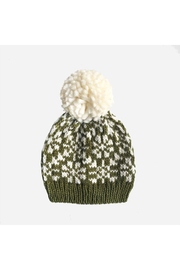 The Blueberry Hill Snowflake Hat - Olive - Product Mini Image
