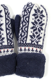 Laon Snowflake Knit Mittens - Product Mini Image