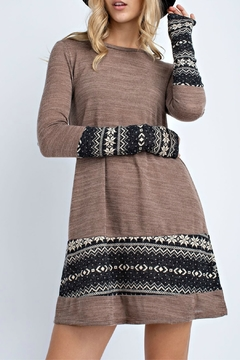 12pm by Mon Ami Snowflake Long Sleeve Knit Tunic/Dress - Product List Image