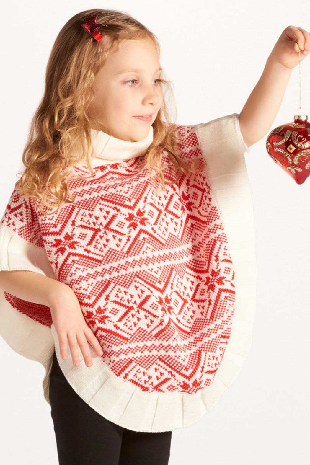 Giftcraft Inc.  Snowflake Poncho - Front Full Image