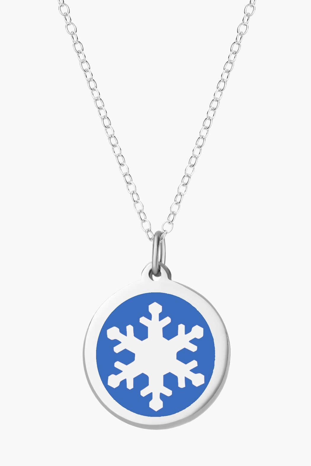 Auburn Jewelry Snowflake Silver Pendant - Original - Front Cropped Image