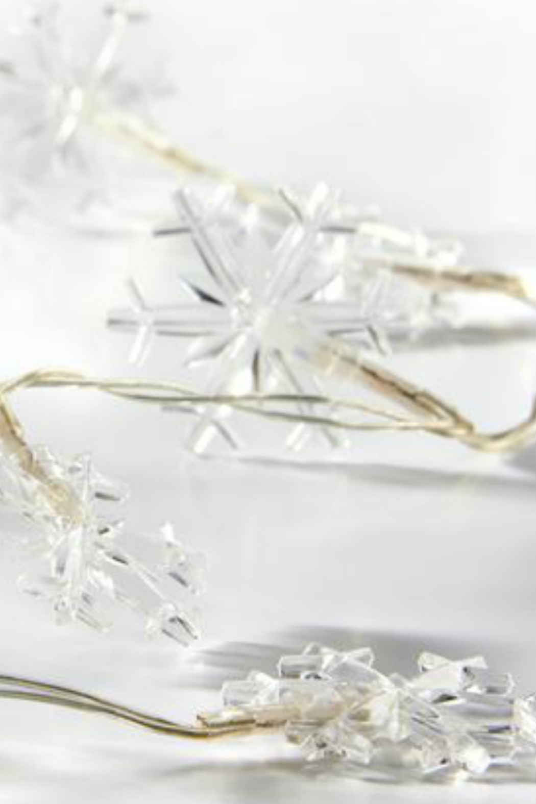 Gift Craft Snowflake string lights - Front Full Image