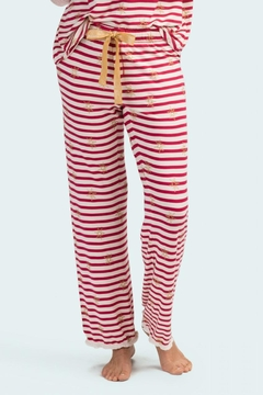 Hatley Snowflake Stripe Bottoms - Product List Image