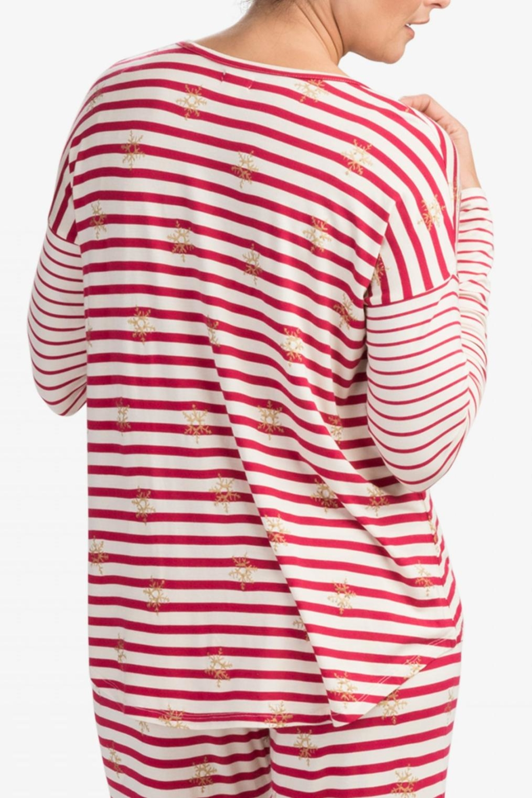 Hatley Snowflake Stripes Top - Front Full Image