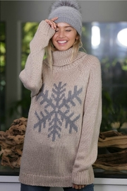 Wanna B Snowflake Sweater - Front cropped