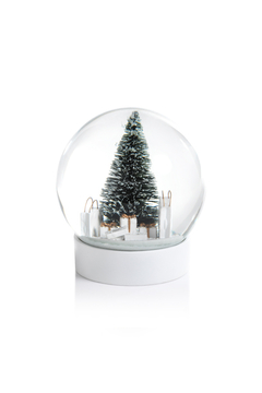 Zodax SNOWGLOBE W/ PINE NEEDLE TREE AND GIFT BAGS - Alternate List Image