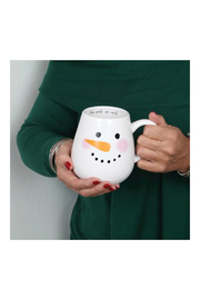 DEI SNOWMAN FACE MUG - Front full body