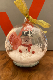 tesoro  Snowman Glass Light Up Ornament - Product Mini Image