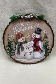 Hanna's Handiworks Snowman Hanger with Lights - Front cropped