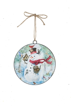 Sullivans Snowman-With-Birdhouse Metal Ornament - Alternate List Image