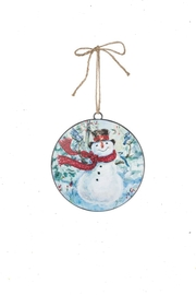Sullivans Snowman-With-Bluejay Metal Ornament - Product Mini Image