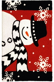 Jelly Bean Rugs Snowman With Scarf - Product Mini Image