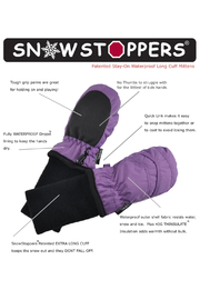 SnowStoppers  SnowStoppers® Original Extended Cuff Mittens - Front full body