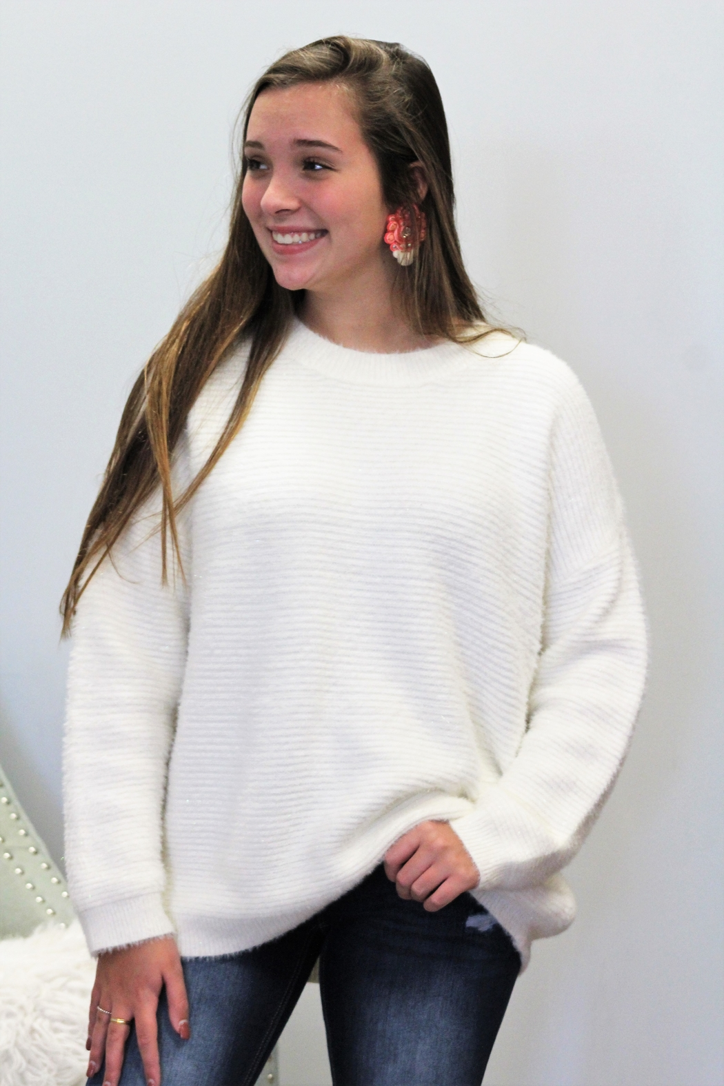 Papercrane Snowy Days Sweater - Side Cropped Image