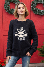 Wooden Ships Snowy Wish Crew - Black - Front cropped