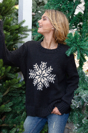 Wooden Ships Snowy Wish Crew - Black - Back cropped