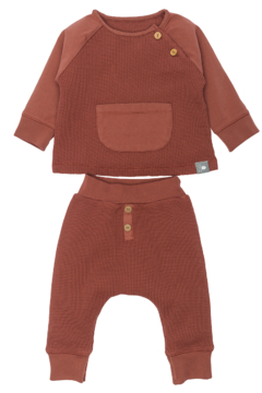 SNUG Kit Organic Cotton Sweater & Pants in Waffle Mesh - Product List Image