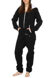 Snug As a Bug Black Footless Onesie - Product Mini Image