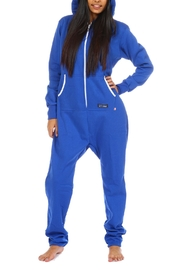 Snug As a Bug Blue Footless Onesie - Front cropped