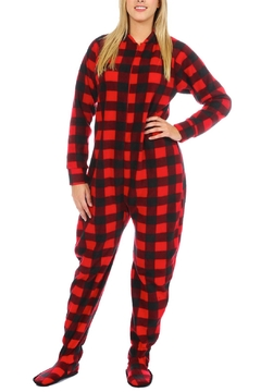 Snug As a Bug Canada Plaid Footed Onesie - Product List Image