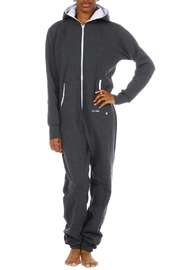 Snug As a Bug Charcoal Onesie - Front cropped