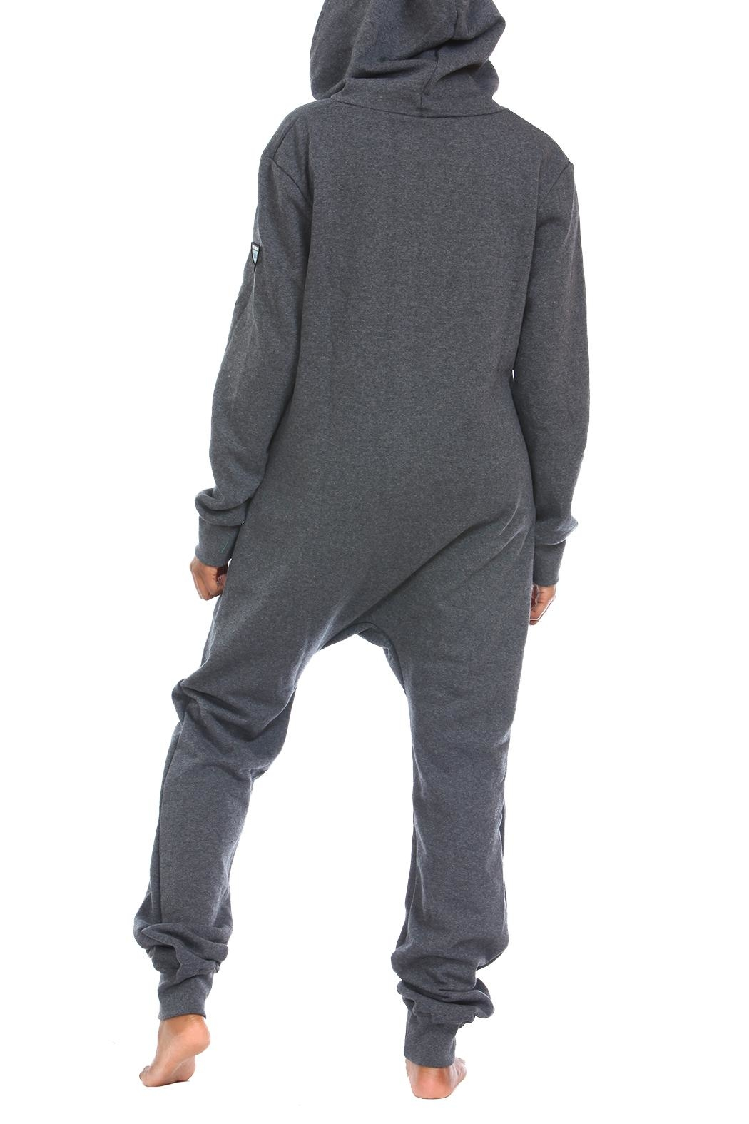 Snug As a Bug Dark-Grey Footless Onesie - Side Cropped Image