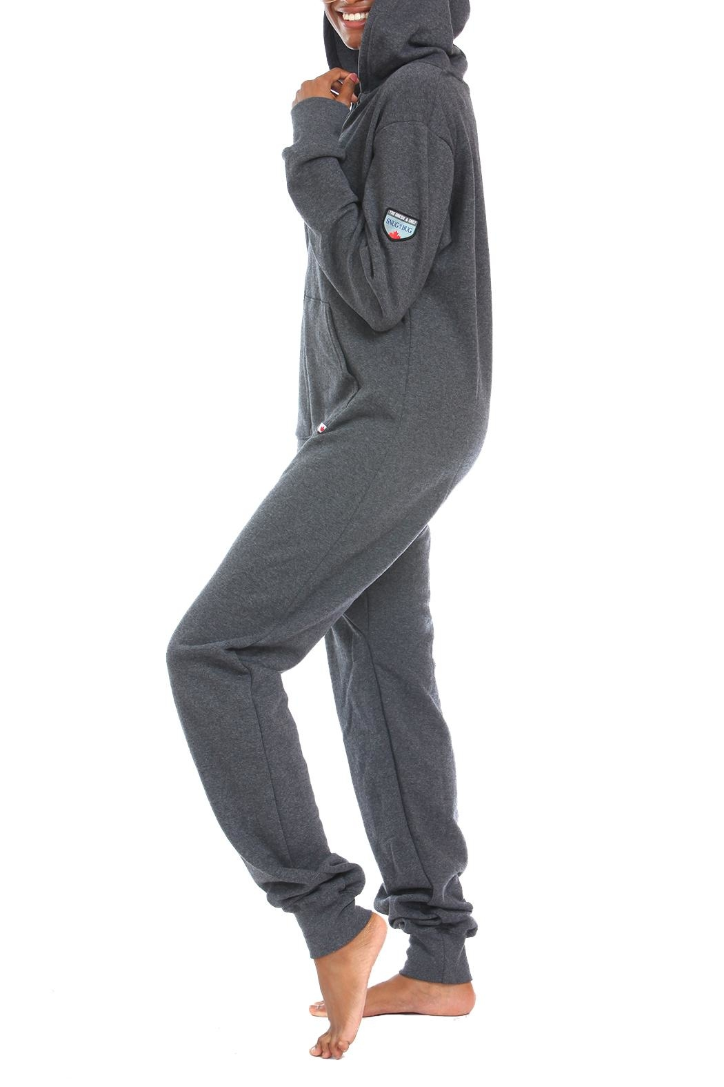 Snug As a Bug Dark-Grey Footless Onesie - Front Full Image