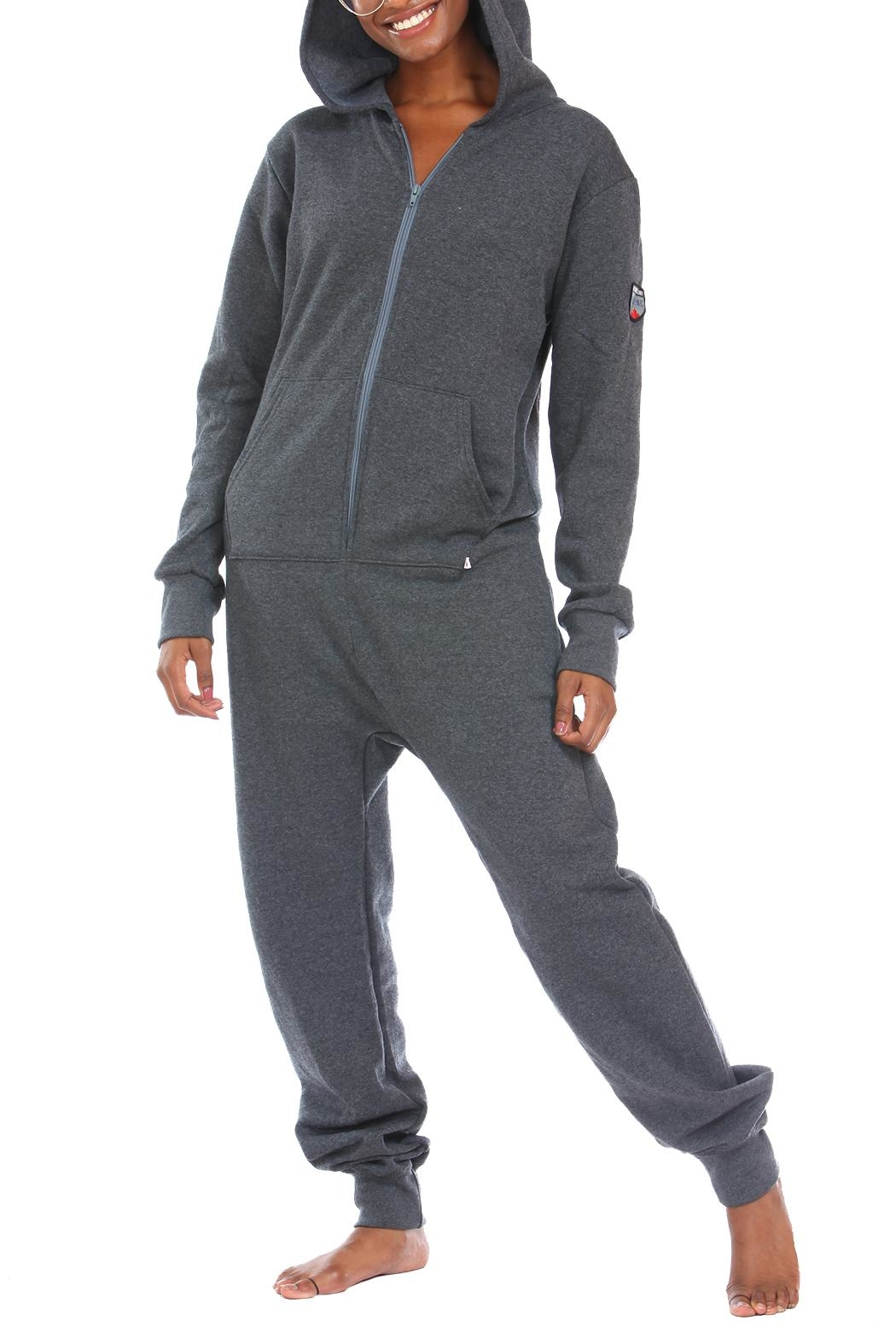 Snug As a Bug Dark-Grey Footless Onesie - Main Image