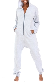 Snug As a Bug Light-Grey Footless Onesie - Product Mini Image