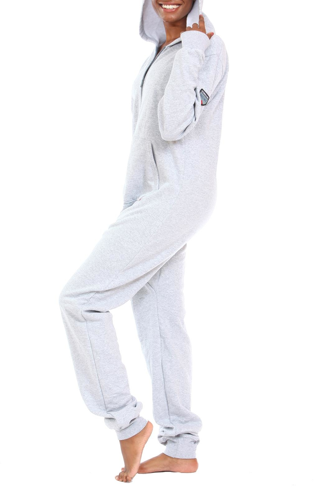Snug As a Bug Light-Grey Footless Onesie - Front Full Image
