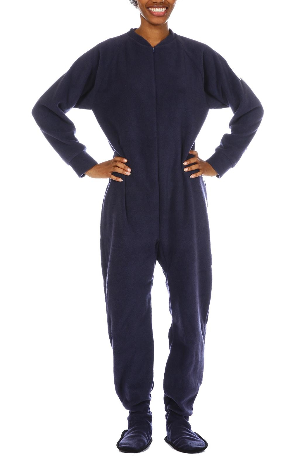 Snug As a Bug Navy Footed Onesie - Main Image