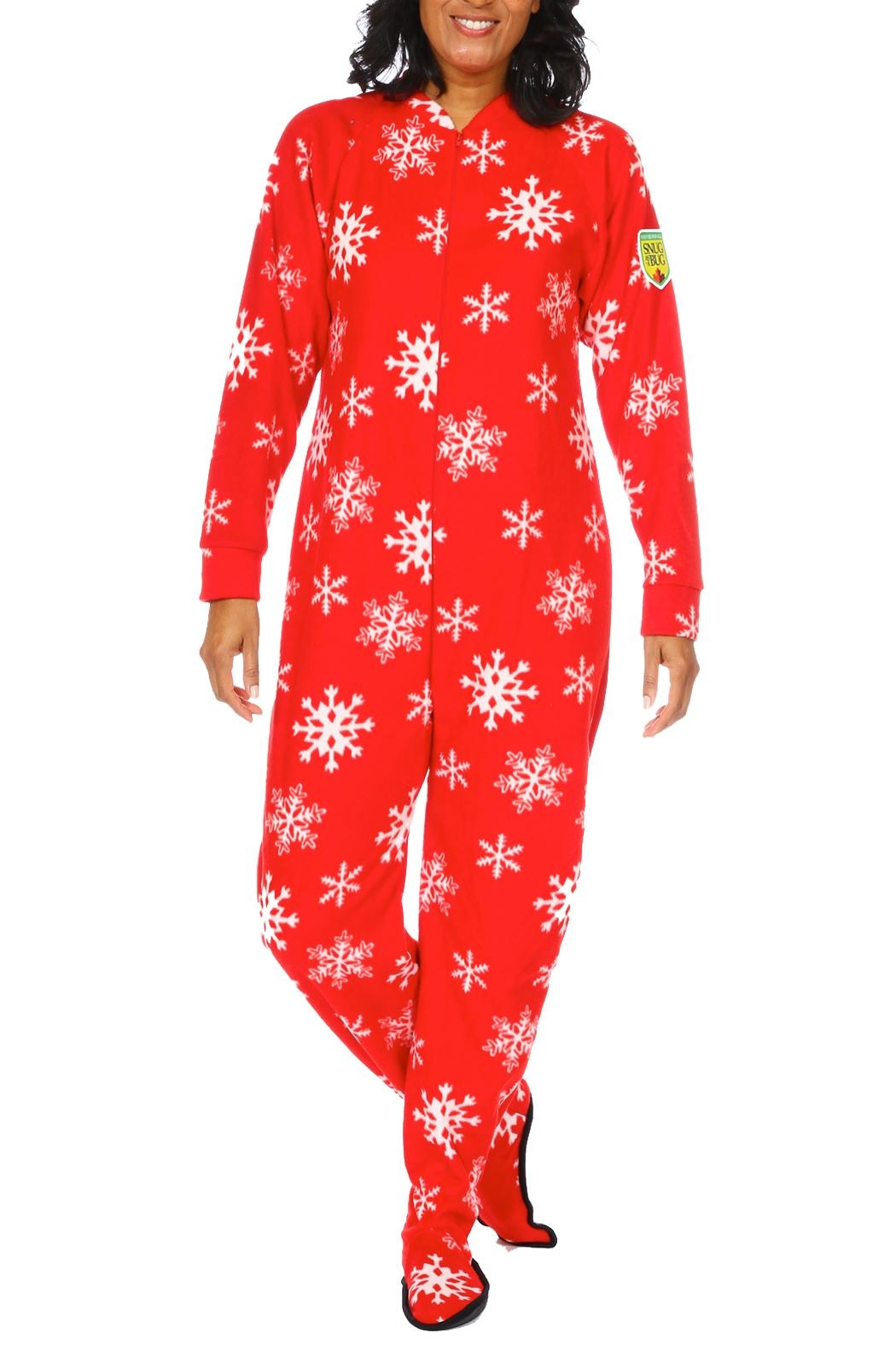 Snug As a Bug Winter Snowflake Onesie - Front Cropped Image