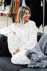 POL  Snuggle Up Leopard Lounge Pants - Front full body