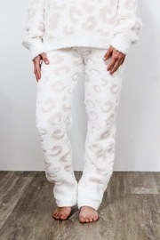 POL  Snuggle Up Leopard Lounge Pants - Front cropped