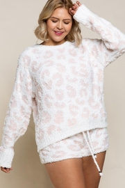 POL Berber Snuggle-Up Leopard Sweater - Product Mini Image