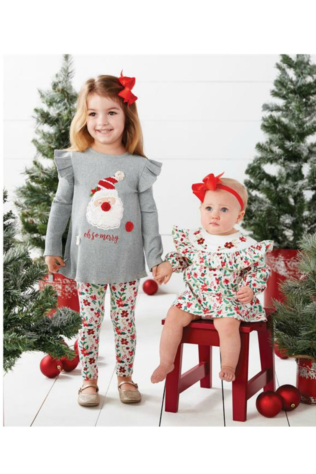Mud Pie So Merry Dress - Front Full Image
