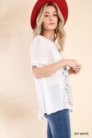 Umgee USA So-Much-Detail Embroidered Top - Side cropped