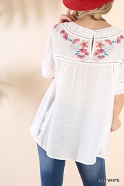 Umgee USA So-Much-Detail Embroidered Top - Back cropped