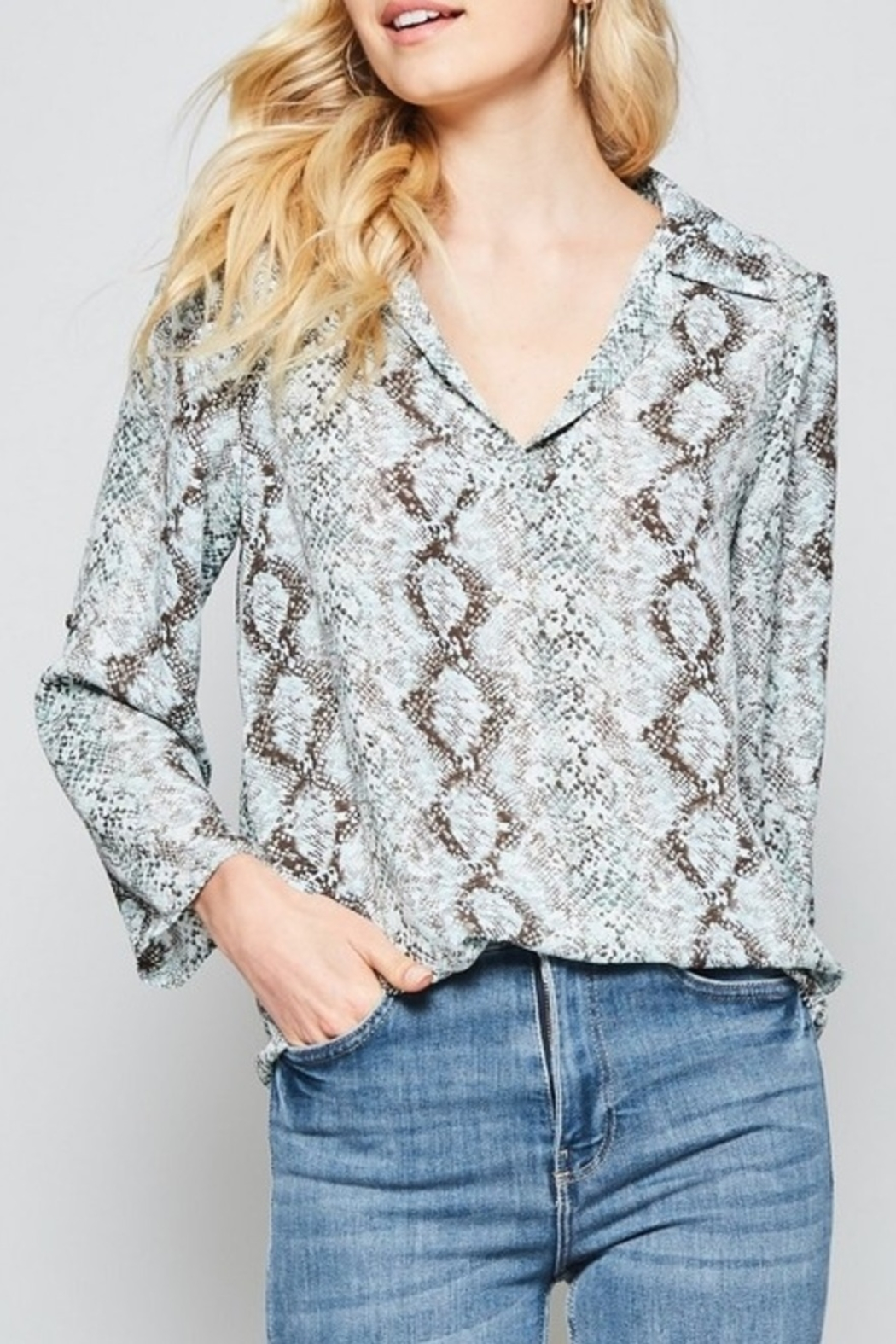 Andree by Unit So Much Snake top - Front Cropped Image