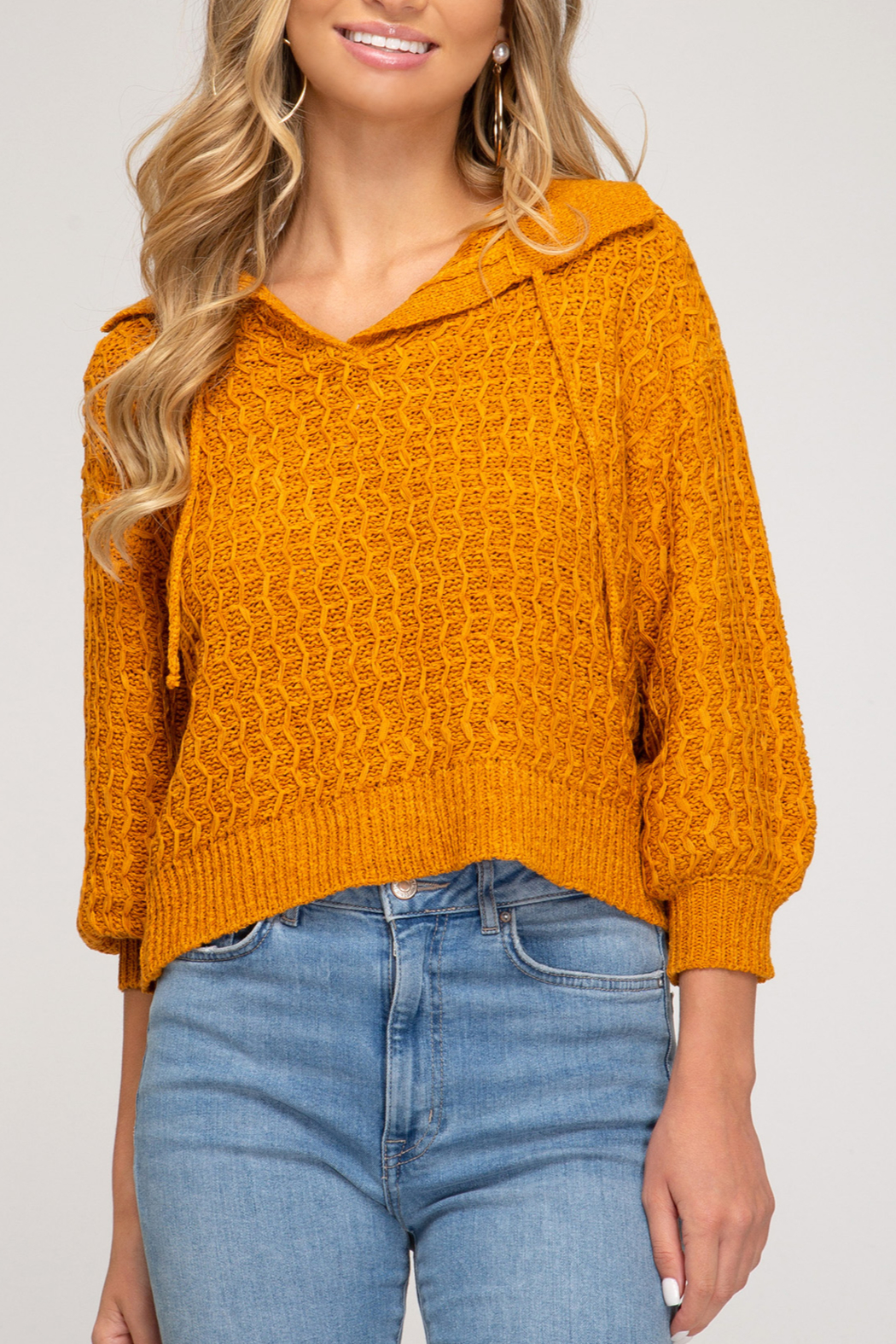 She and Sky So Stylish Sweater - Front Cropped Image