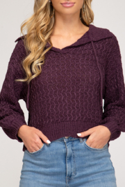 She and Sky So Stylish Sweater - Front cropped