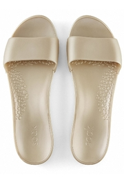 Soak Gold Metallic Sandals - Front full body
