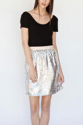 Soaked in Luxury High-Waisted Sequin Skirt from Calgary by Adorn ...