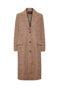 Soaked in Luxury Ruby Checked Coat - Product List Image