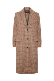 Soaked in Luxury Ruby Checked Coat - Product Mini Image