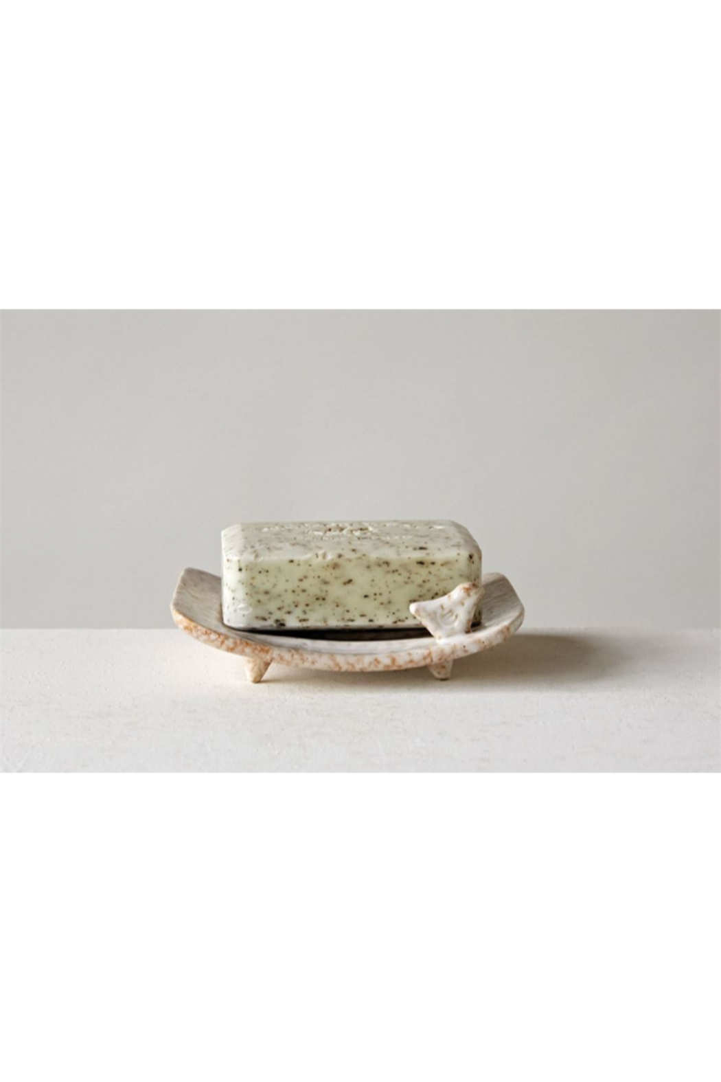 The Birds Nest SOAP DISH WITH BIRD - Front Full Image